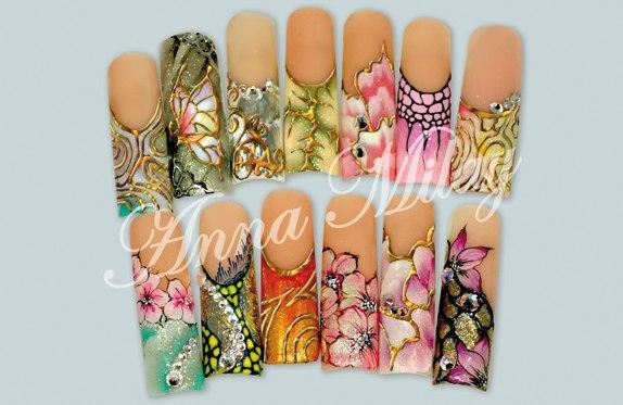 Гель краска дизайн ногтей