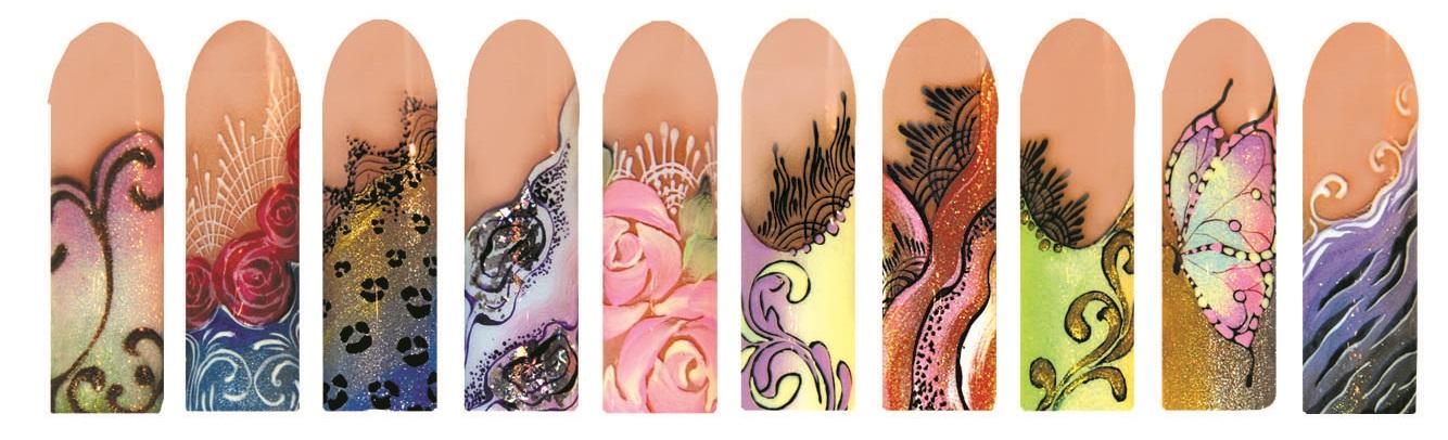 Дизайн ногтей красками видео обучение